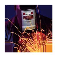 Image of welder with sparks