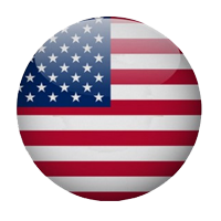 Stylized USA flag on button