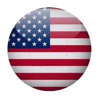 Stylized USA flag on button